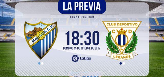 Málaga – Leganés: Visita a un rival con urgencias