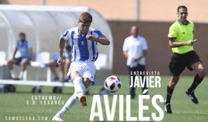 """Javier Avilés: """"Debutar en Primera sería cumplir el sueño que tengo desde pequeño"""""""