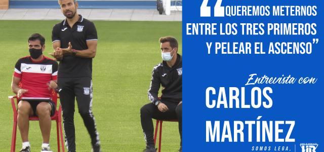 """Carlos Martínez: """"Queremos meternos entre los tres primeros y pelear el ascenso"""""""