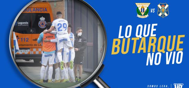 Lo que Butarque no vio en el CD Leganés 1-0 CD Tenerife
