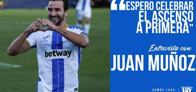 """Juan Muñoz: """"Espero celebrar el ascenso a Primera"""""""