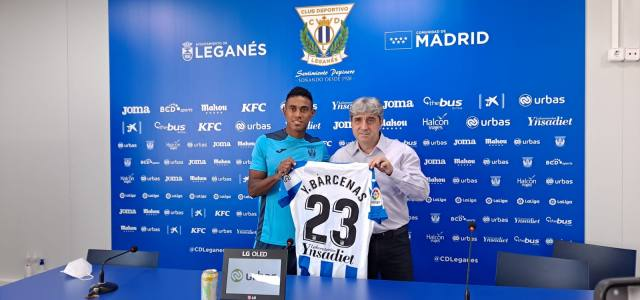 Yoel Bárcenas, presentado con el CD Leganés